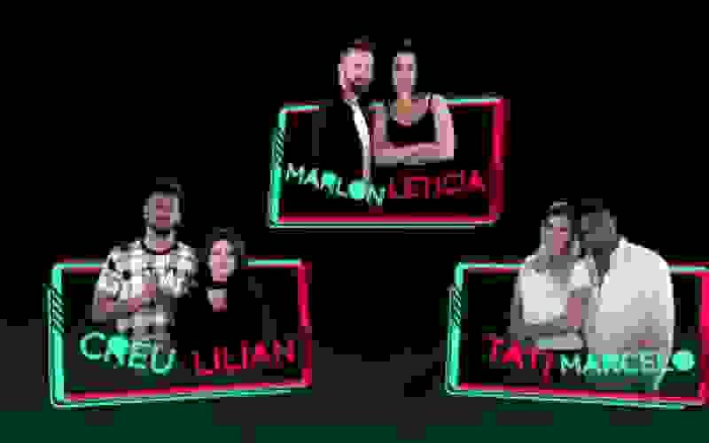 Marlon e Letícia, Créu e Lilian e Tati e Marcelo estão na D.R. do Power Couple Brasil